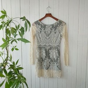 HP 8/19 Free People vintage Victorian lace dress S
